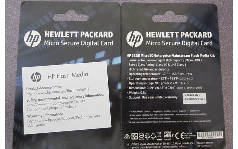 HP 32GBmicroSDMainstream Flash Media Kit