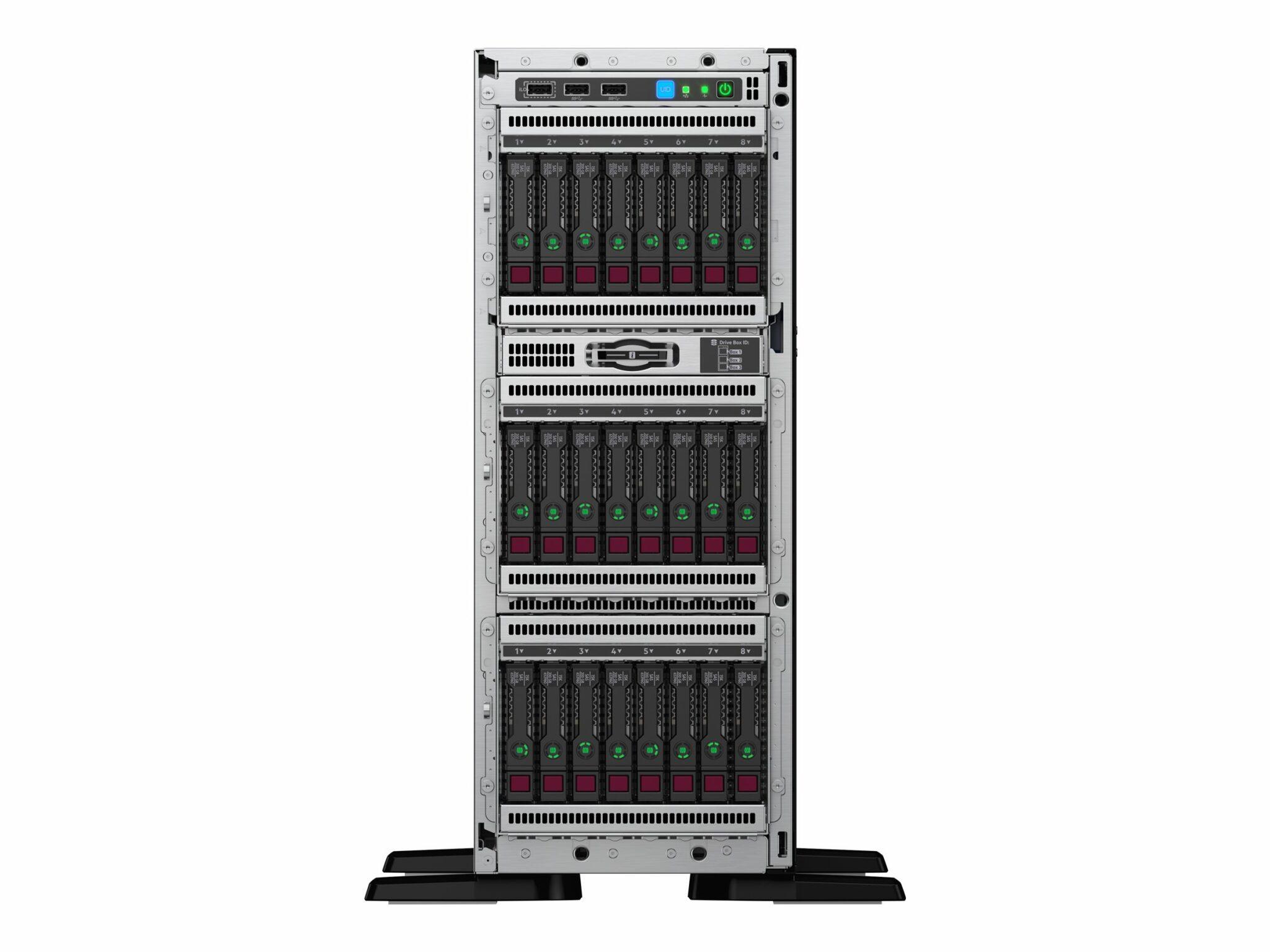 HPE ProLiant ML350 Gen10 Base – Server – tower – 4U – 2-way – 1 x Xeon Silver 4110 / 2.1 GHz – RAM 16 GB