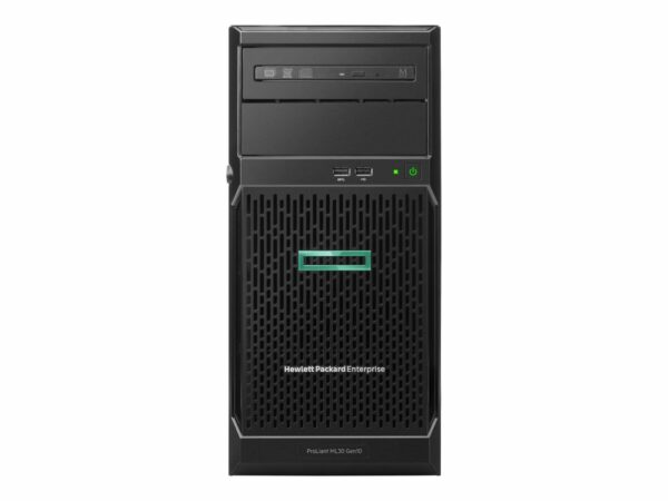 HPE ProLiant ML30 Gen10 E-2224 1P 16GB-U S100i 8SFF 1x500W RPS Server