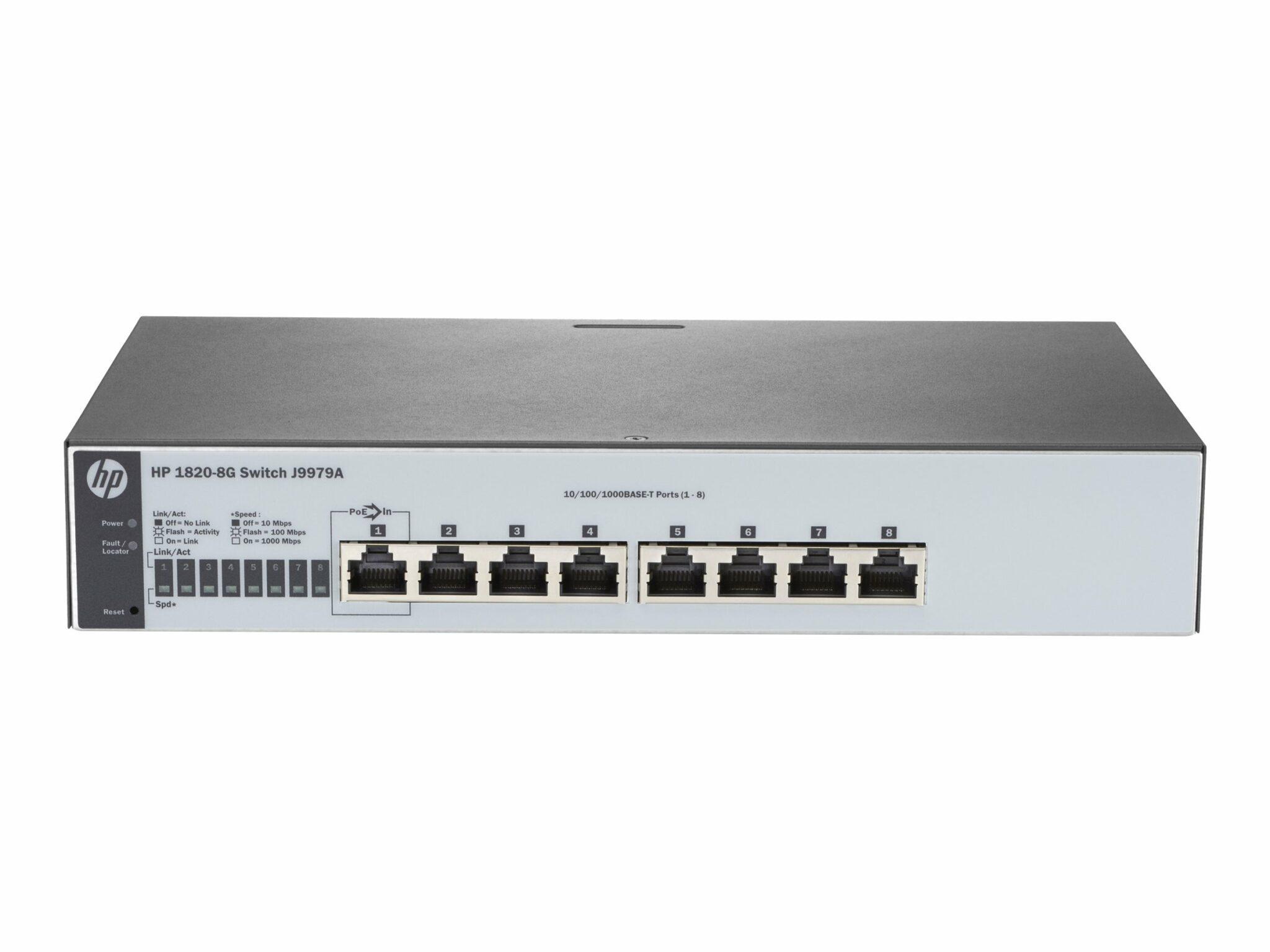 HPE 1820 8G 8 Port Switch