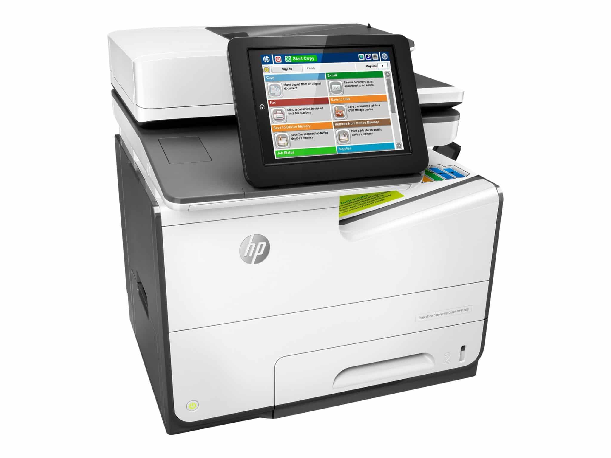 HP PageWide Enterprise 586f