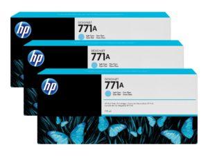 HP 771A Light Cyan Ink Cartridge 3-Pack