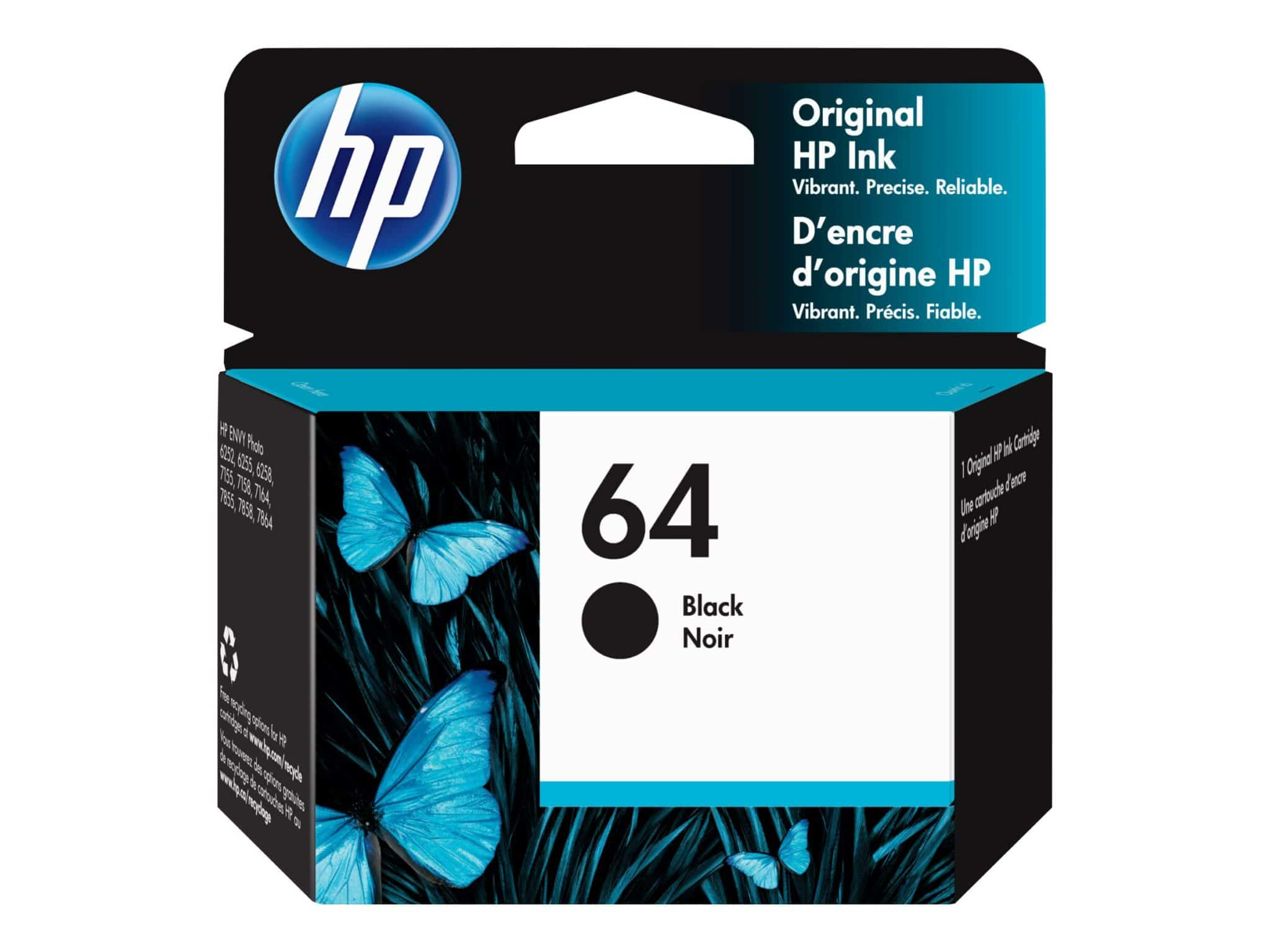 HP 64 Black Inc Cartridge