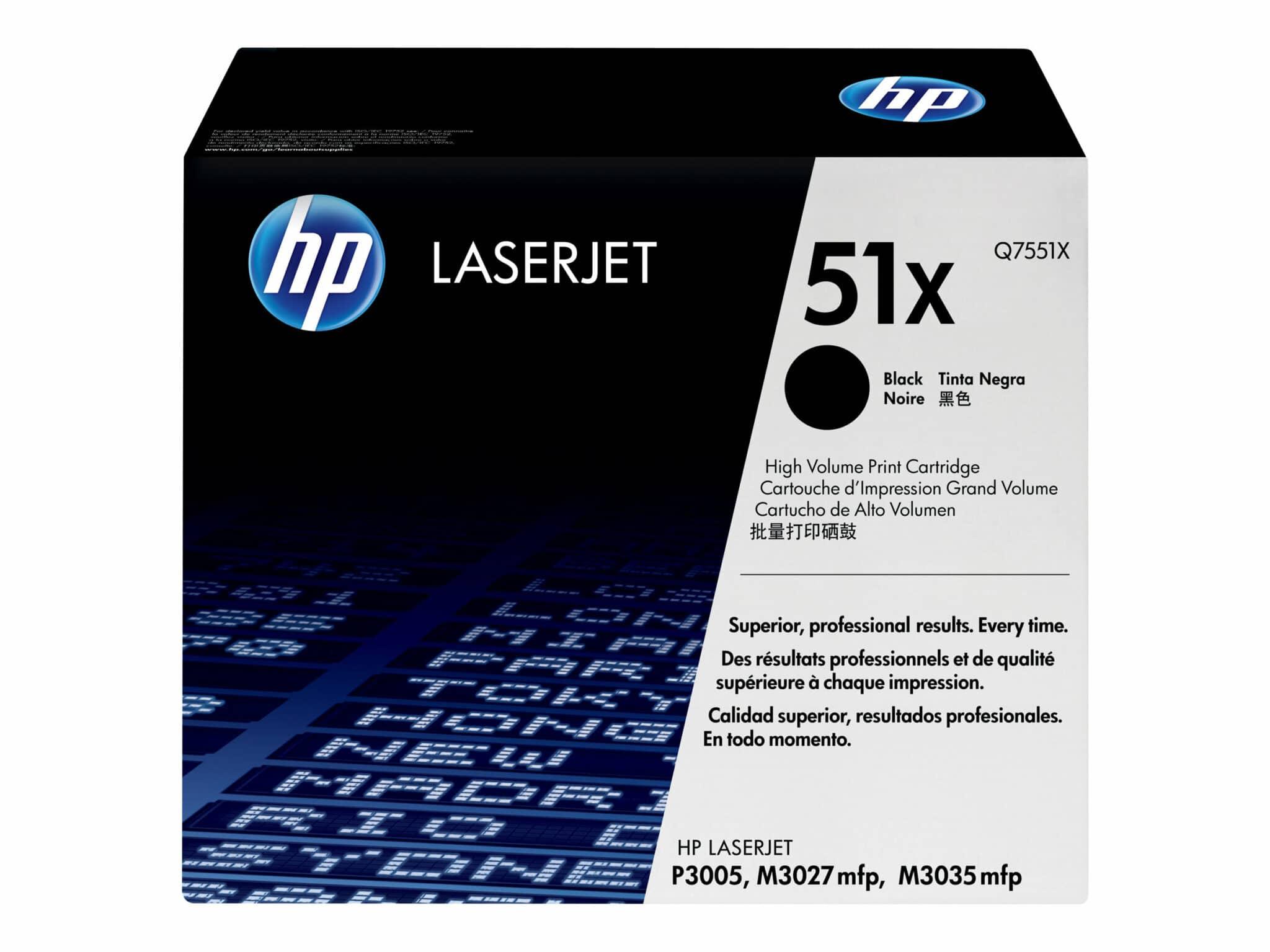 HP 51X XL Black Original Toner