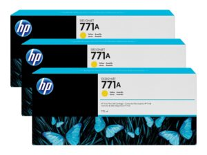 HP 771A Yellow Ink Cartridge 3-Pack