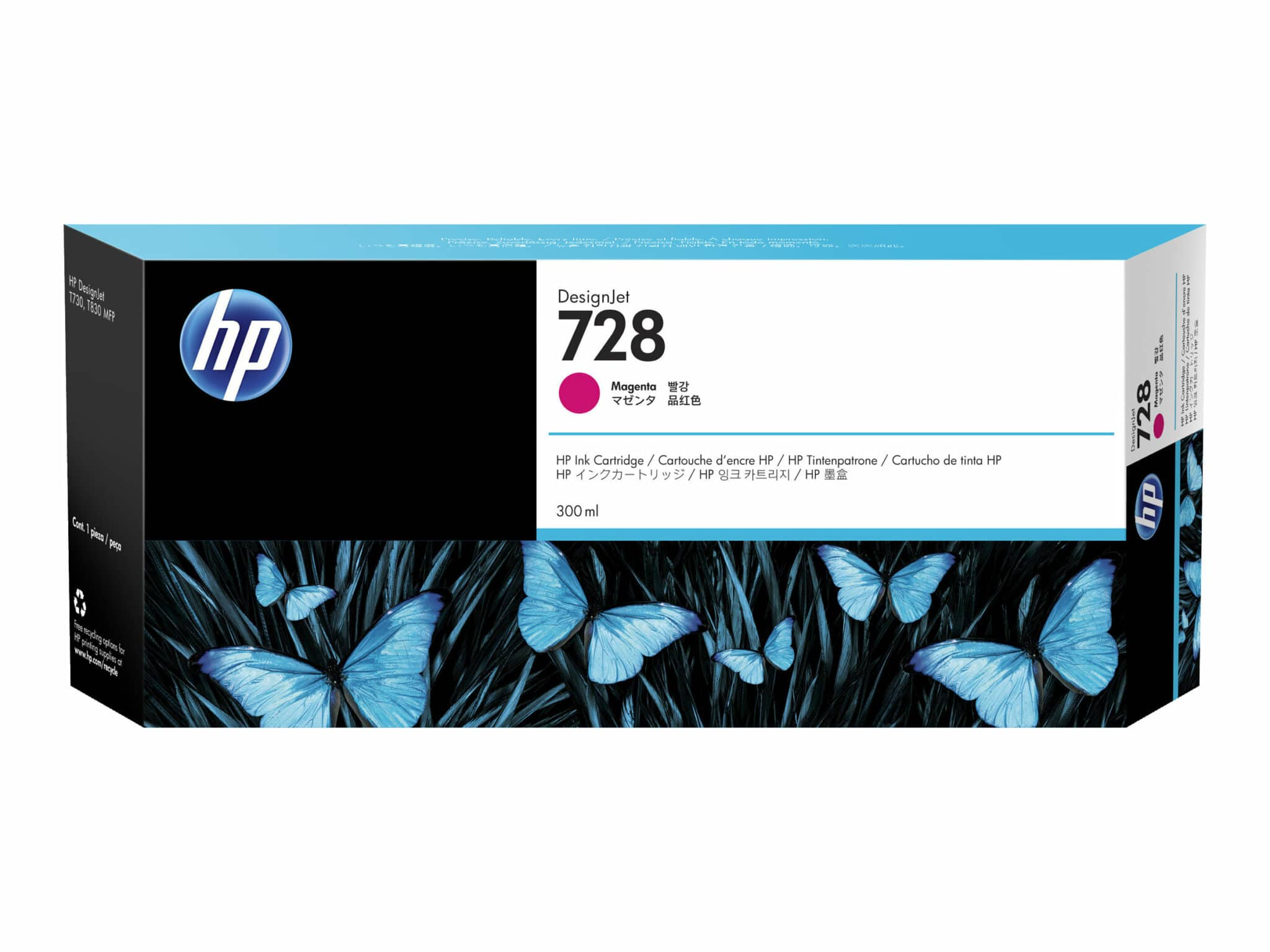 HP728 300-ml Magenta DesignJet Ink