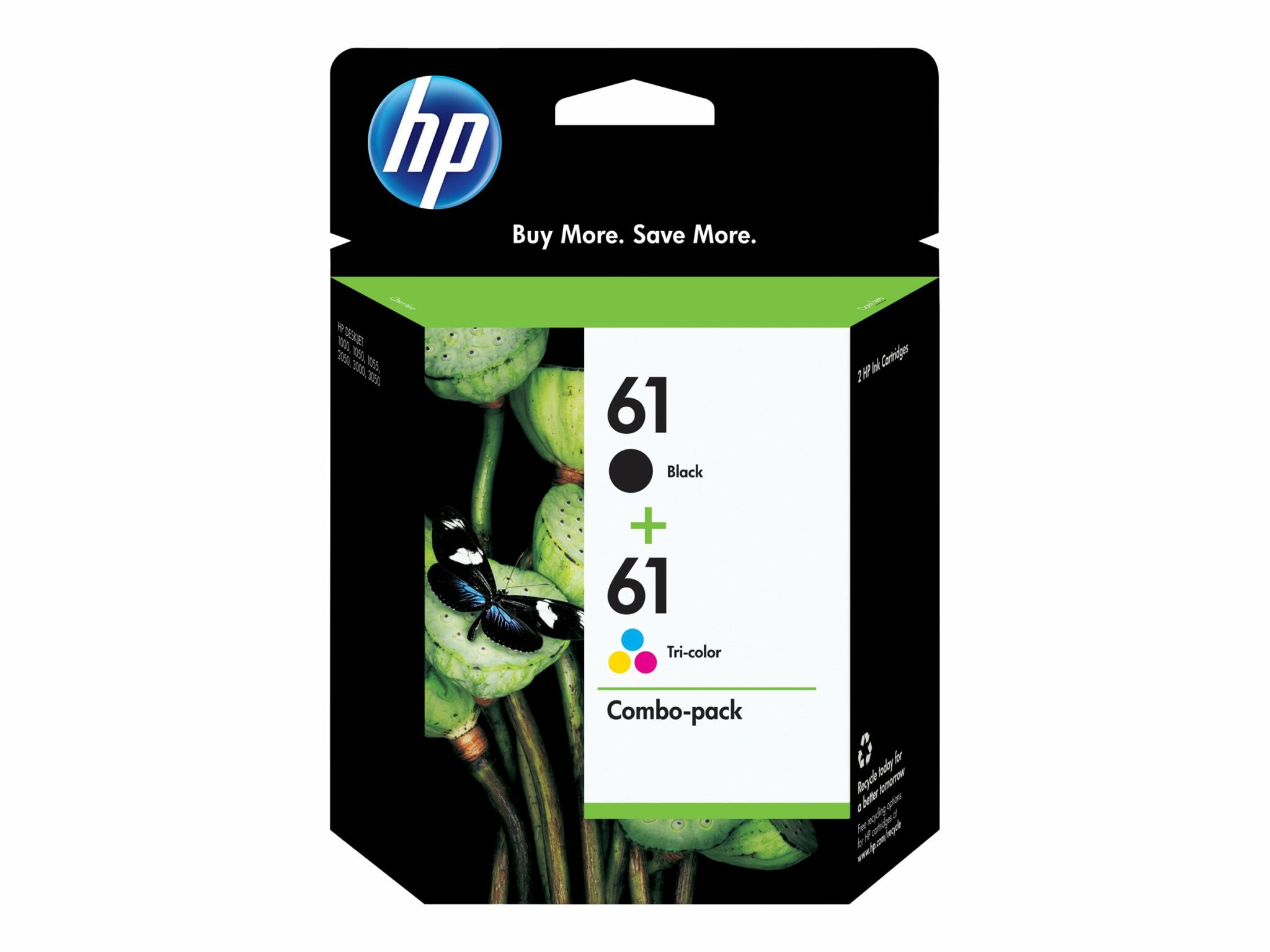 HP 61 2-pack Black/Tri-color OEM Ink