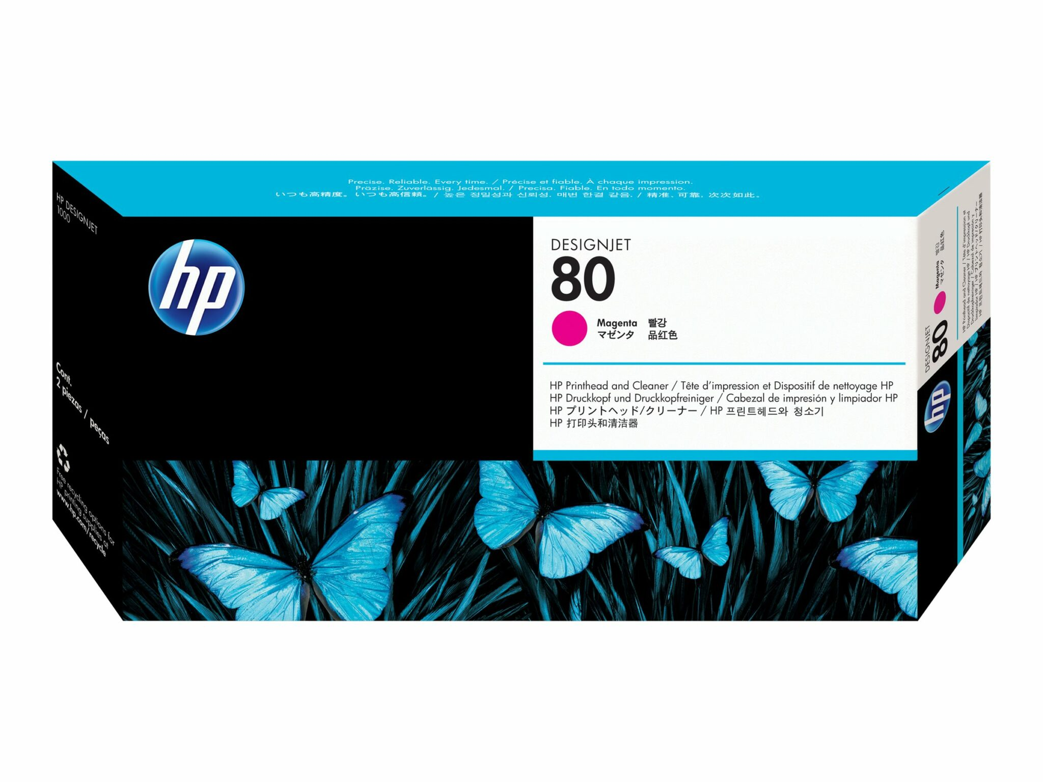 HP 80 Magenta Printhead and Cleaner