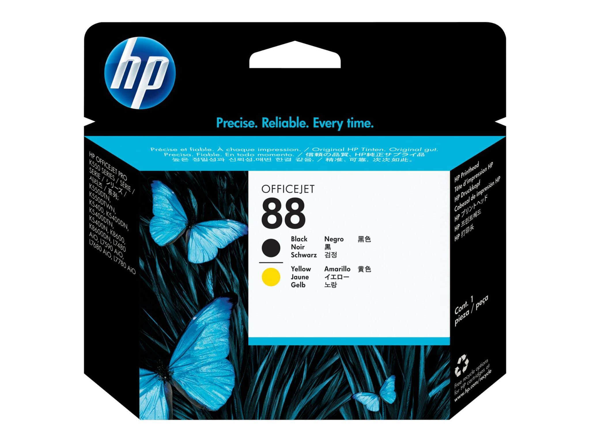 HP 88 Black and Yellow Printhead