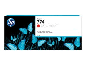 HP 774 3-pack Chromatic Red Original DesignJet Ink Cartridge