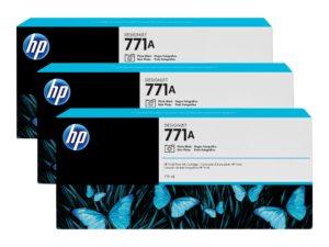 HP 771A Photo Black Ink Cartridge 3-Pack