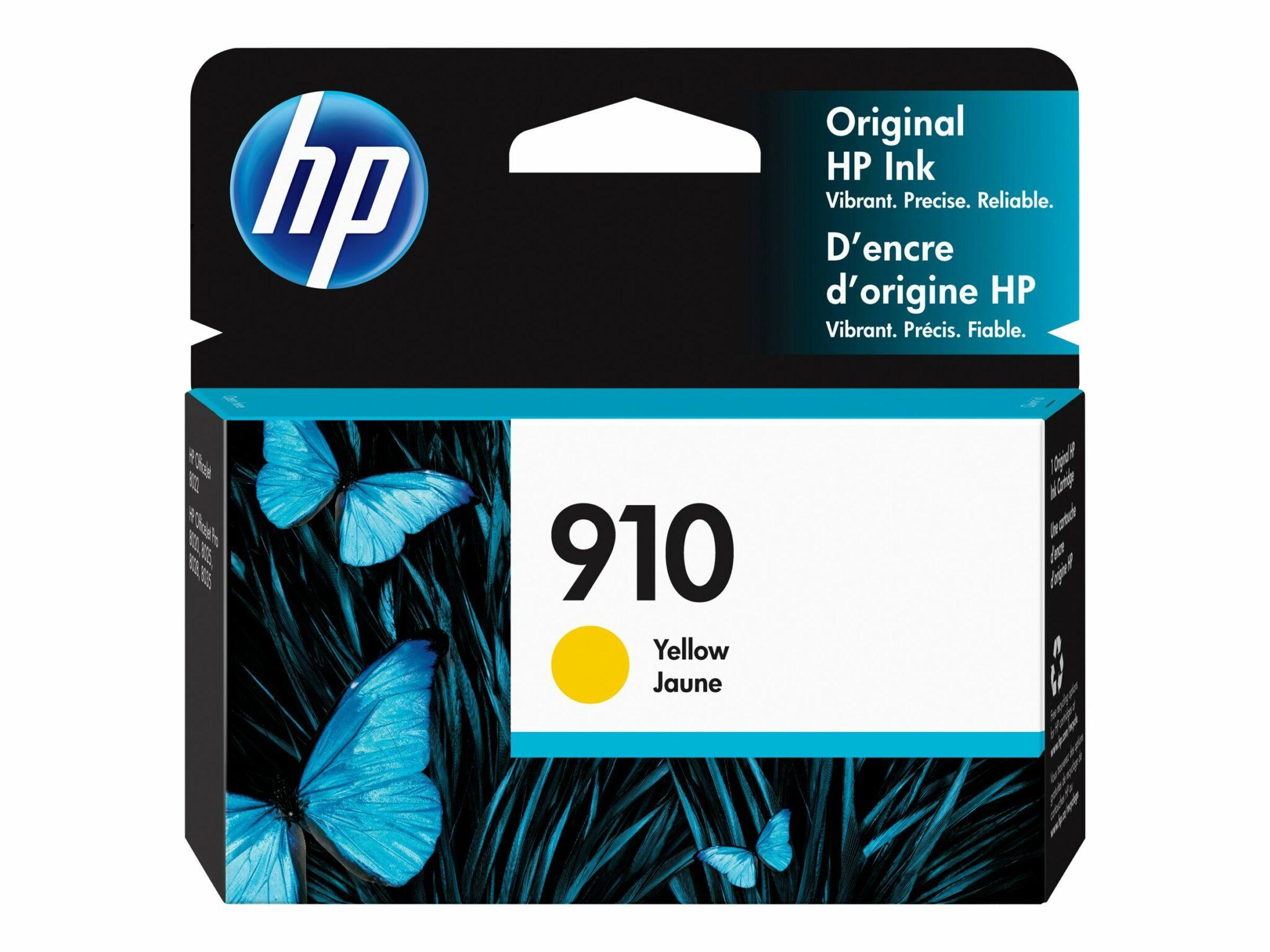 HP 910 Yellow Original Ink Cartridge