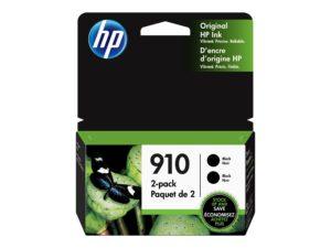 HP 910 2-Pack Black Original Ink Cartridge