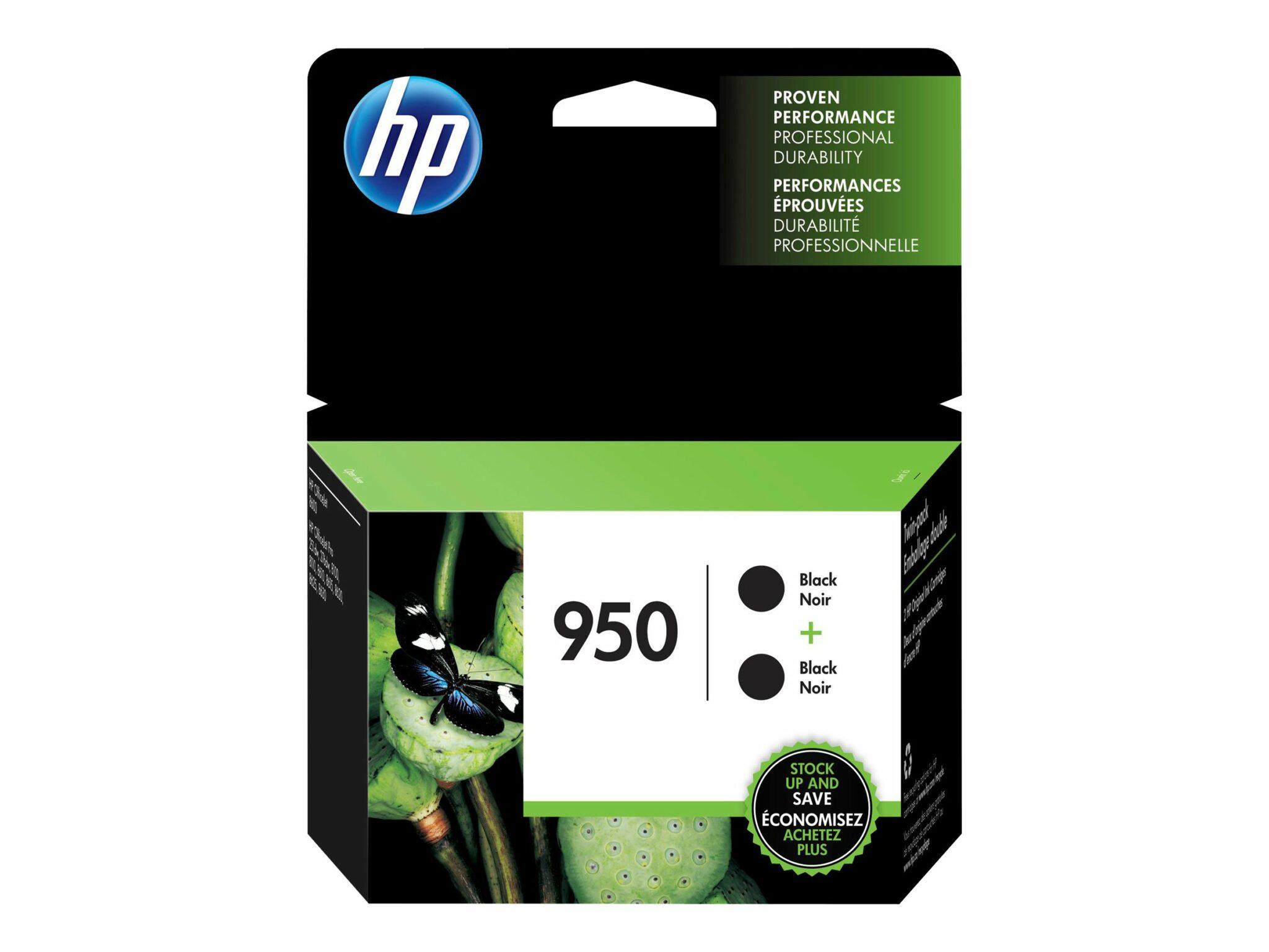 HP 950 Black Ink Cartridge 2-Pack
