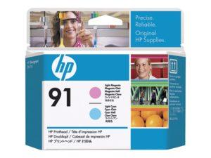 HP 91 Light Magenta & Light Cyan Printhead