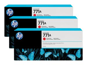 HP 771A Chromatic Red Ink Cartridge 3-Pack