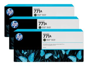 HP 771A Matte Black Ink Cartridge 3-Pack