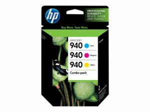 HP 940 3-pack Yellow, Cyan, Magenta Original Officejet Ink Cartridge