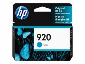 HP 920 Cyan Original Officejet Ink Cartridge