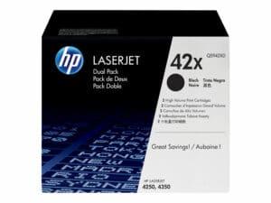 HP 42X 2-pack High Yield Black Original LaserJet Toner Cartridge