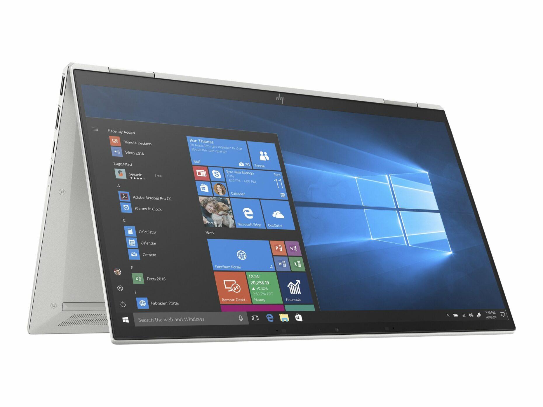 """HP EliteBook 1030 G7 - Flip design - Core i7 10810U / 1.1 GHz - 16 GB RAM - 512 GB SSD - 13.3"""" Touchscreen (Full HD) - Notebook"""