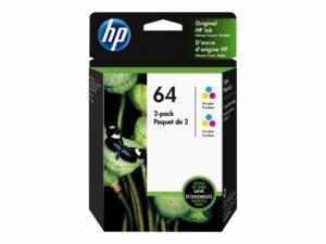 HP 64 2-pack Tri-color Cyan, Magenta, Yellow Original Ink Cartridge