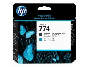 HP 774 Cyan & Matte Black Printhead