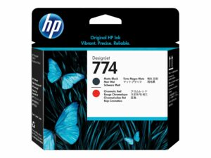 HP 774 Matte black & Chromatic Red Printhead