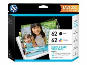 HP 62 Value Pack - 2-pack - Black, Tricolor - Original - Ink Cartridge